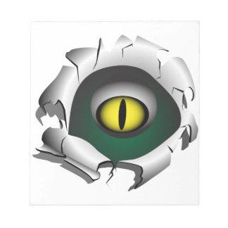 穴、壊れ目。モンスターの目 ノートパッド