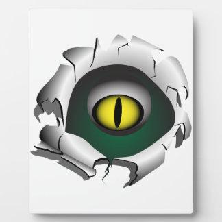 穴、壊れ目。モンスターの目 フォトプラーク