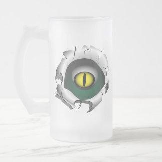 穴、壊れ目。モンスターの目 フロストグラスビールジョッキ