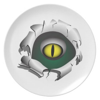 穴、壊れ目。モンスターの目 プレート