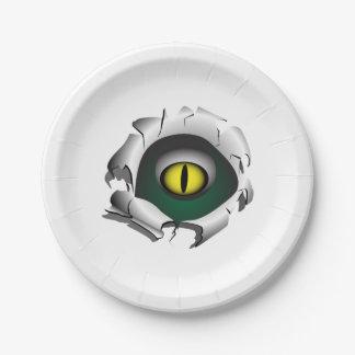 穴、壊れ目。モンスターの目 ペーパープレート
