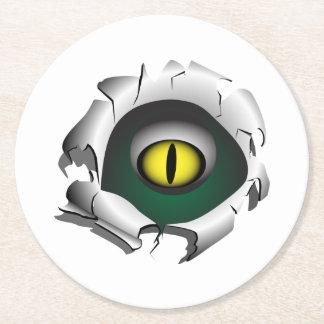 穴、壊れ目。モンスターの目 ラウンドペーパーコースター