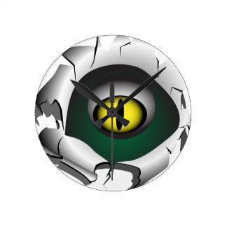 穴、壊れ目。モンスターの目 ラウンド壁時計