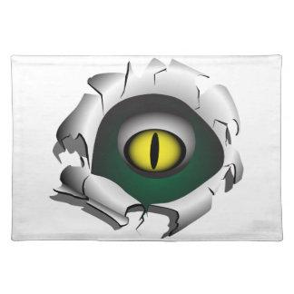 穴、壊れ目。モンスターの目 ランチョンマット