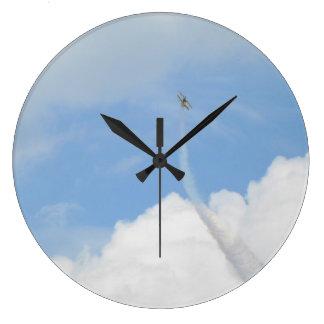 空および飛行機 ラージ壁時計