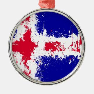 空にでは、アイスランド シルバーカラー丸型オーナメント