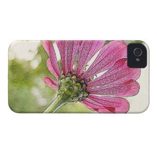 空のために達するピンクの《植物》百日草 Case-Mate iPhone 4 ケース