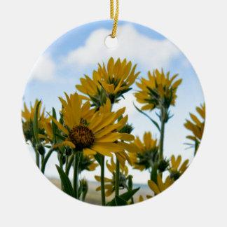 空のために達する開花 セラミックオーナメント