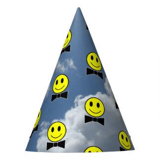 空のちょうネクタイの幸せな顔 パーティーハット