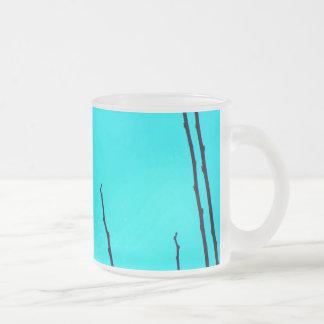 空のひび フロストグラスマグカップ