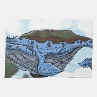 空のクジラ キッチンタオル