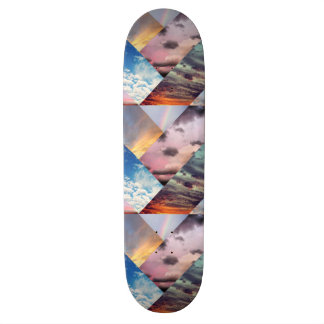 空のコラージュのスケートボード スケートボード