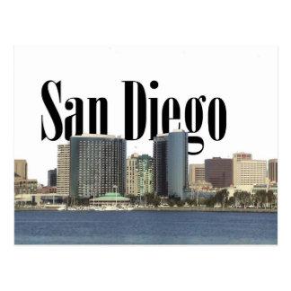 空のサンディエゴとのサンディエゴのスカイライン ポストカード