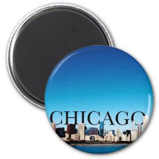 空のシカゴとのシカゴのスカイライン マグネット