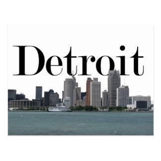 空のデトロイトとのデトロイトMIスカイライン ポストカード
