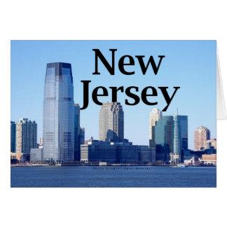 空のニュージャージーとのニュージャージーのスカイライン カード