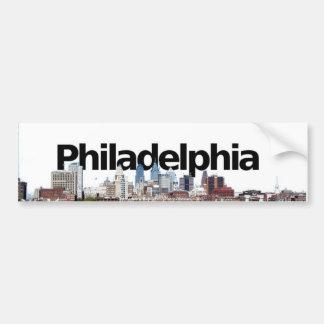 空のフィラデルヒィアとのフィラデルヒィアのスカイライン バンパーステッカー