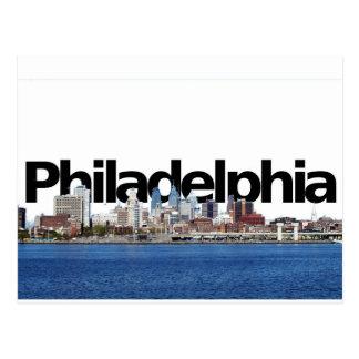 空のフィラデルヒィアとのフィラデルヒィアのスカイライン ポストカード