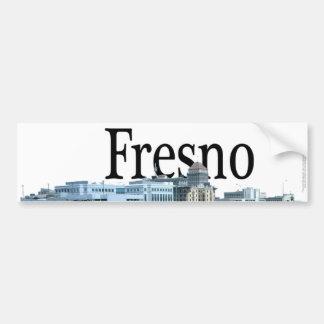 空のフレズノが付いているフレズノカリフォルニア バンパーステッカー