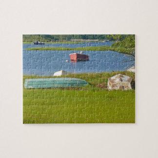 空のボートの絵のようなケープコッドの入口および沼地 ジグソーパズル