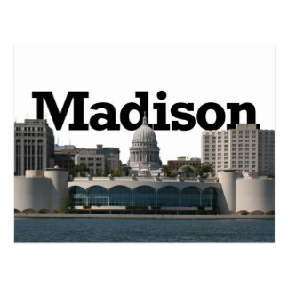 空のマディソンとのマディソンウィスコンシンのスカイライン ポストカード