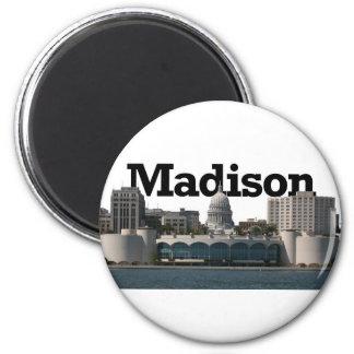 空のマディソンとのマディソンウィスコンシンのスカイライン マグネット