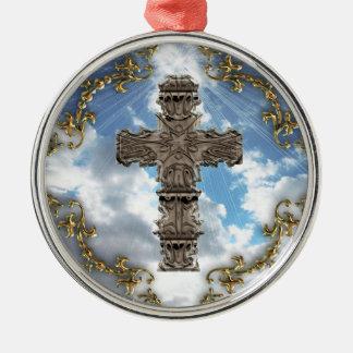 空の優れたオーナメントの装飾的な十字 メタルオーナメント