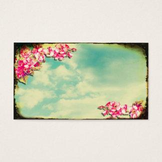 空の名刺の花 名刺