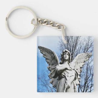 空の方へ見る天使 キーホルダー