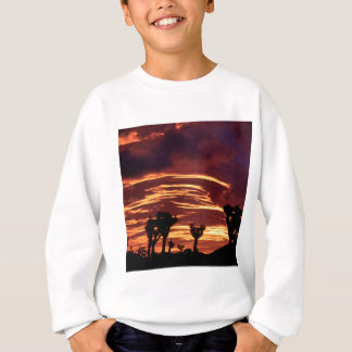 空の日没のジョシュアツリーカリフォルニア スウェットシャツ