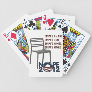 空の椅子、空のオバマ バイスクルトランプ