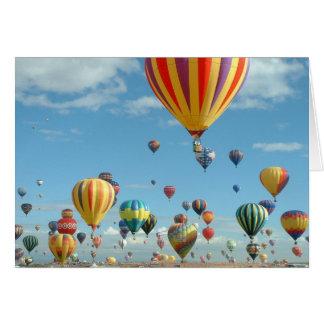 空の気球のフェスタ カード