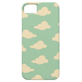 空の海泡および象牙色のモダンの雲 iPhone SE/5/5s ケース