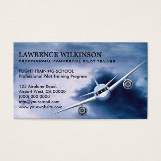 空の航空名刺の民間機 名刺