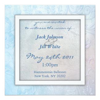 空の花柄の結婚式招待状 カード