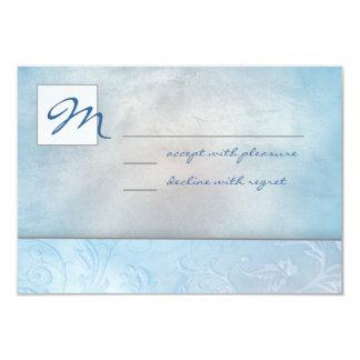 空の花柄RSVP カード