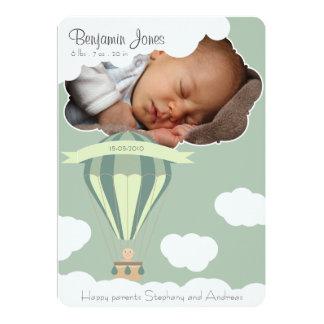 空の誕生の発表の赤ん坊 12.7 X 17.8 インビテーションカード