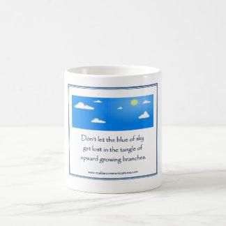 空の青が1つのイメージを襲わないために注意しないで下さい コーヒーマグカップ