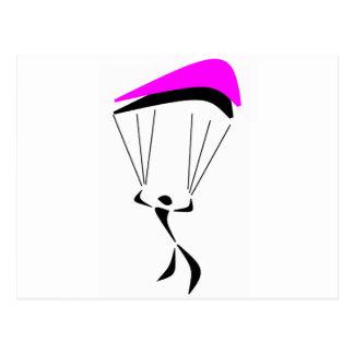 空の飛び込みのピンク ポストカード