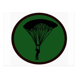 空の飛び込みの緑 ポストカード