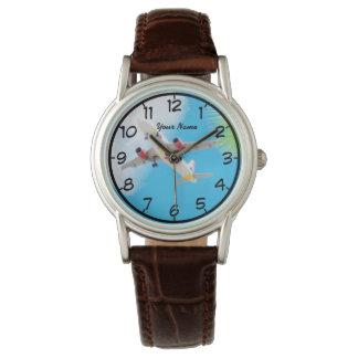 空の飛んでいるな飛行機 腕時計