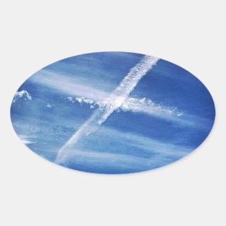 空のSaltire 楕円形シール