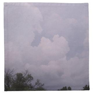 空は曇っています ナプキンクロス