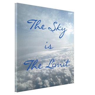 空は限界の飛行機の眺めの天空の雲のキャンバスです キャンバスプリント