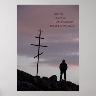 空は限界感動的なポスターです ポスター