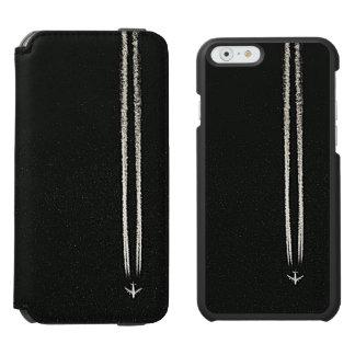 空または高度の飛行機の飛行機雲での上 INCIPIO WATSON™ iPhone 6 財布ケース
