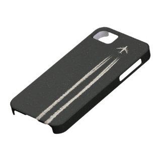 空または高度の飛行機の飛行機雲での上 iPhone SE/5/5s ケース