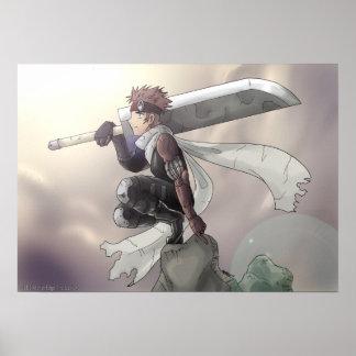 空を見ている単独戦士 ポスター