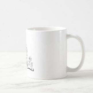 空を調べることを祈っている女性 コーヒーマグカップ