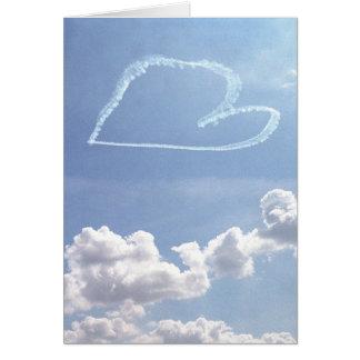 空カードのバレンタイン(中ブランク)の-ハート カード